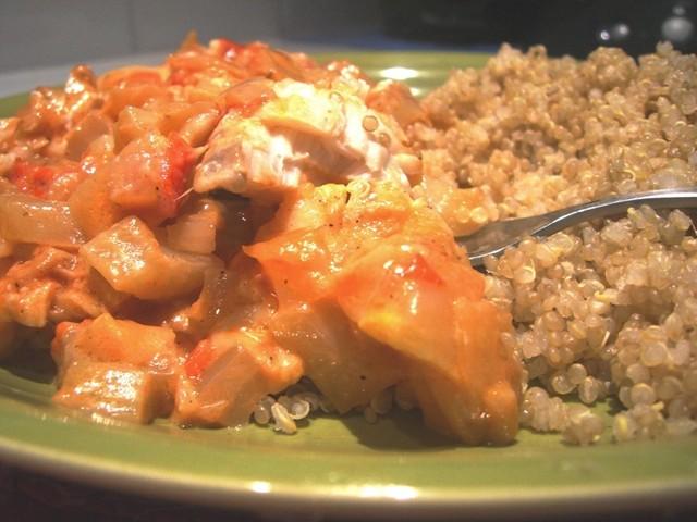 filets cabillaud tomate fenouille qinoa