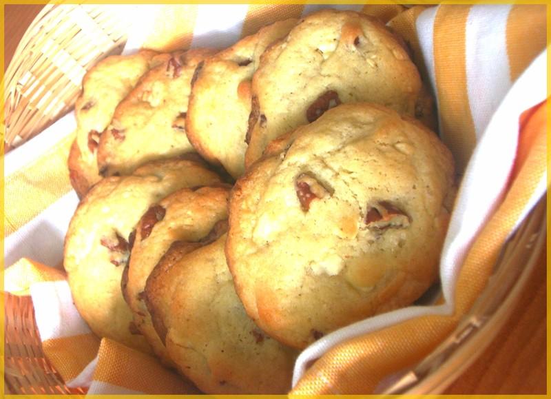 recette cookie chocolat blanc noix de pecan