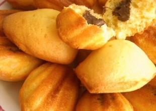 recette madeleines coeur nutella
