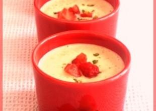 soupe de fraises à la pistache