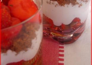 verrines fraise speculos