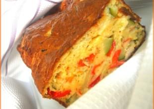recette cake poulet légumes été