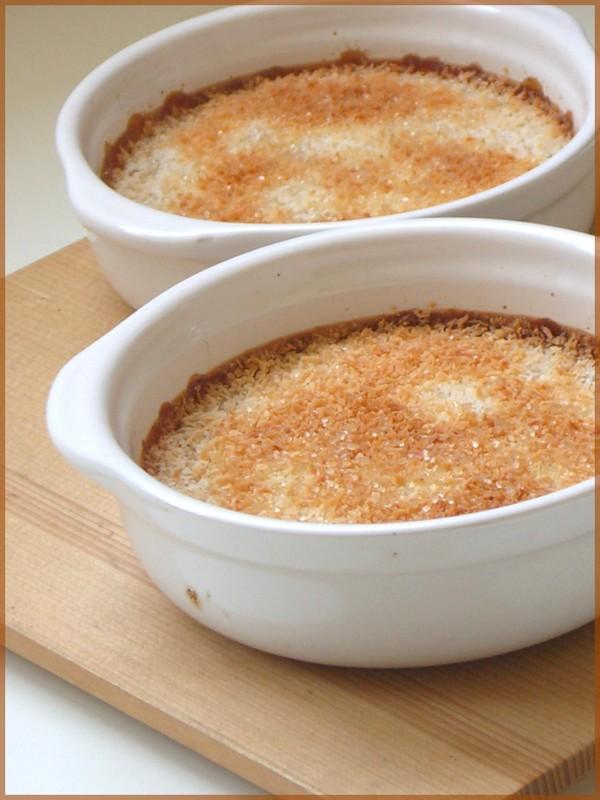 recette flan grillé noix de coco