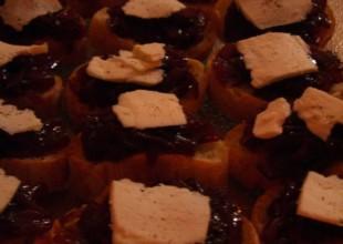 Recette Crostini confiture oignons rouges fromage de chèvre