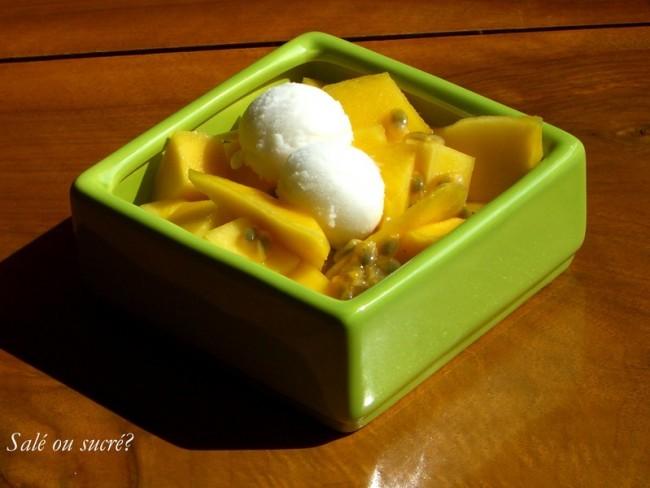Recette salade mangue passion coco